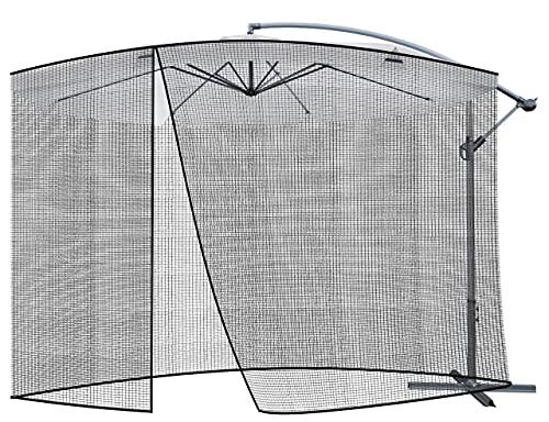 MT MALATEC Insektenschutz für Sonnenschirme Moskitonetz Reißverschluss Fliegengitter 12266, Größe:3.5m