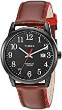 Timex Men's TW2R62300 Easy Reader 38mm Brown/Black Leather Strap Watch