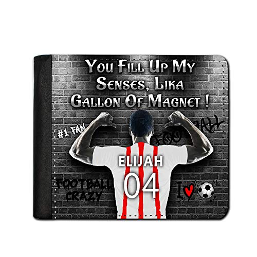 i-Tronixs® Personalised Wallet Valentine's Day, Father's Day Gift Printed Football Club All Teams Personalised Name and Jersey Number 49A Sheffield United
