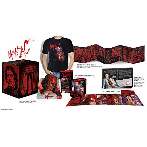 Maniac - Ultimate Limited Collector Bust 333 Edition 12 Disc Digi-Book, Vinyl, Booklet, T-Shirt [UHD - Blu-ray - Soundtrack CD]