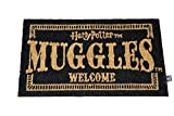 Harry Potter Felpudo Muggles Welcome Doormat Official Merchandising Referencia DD Textiles del hogar Unisex Adulto, Multicolor (Multicolor), única
