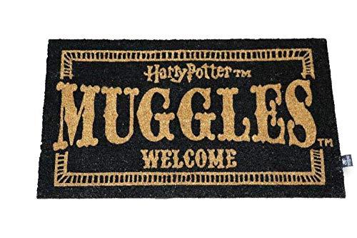 Harry Potter Felpudo Muggles Welcome Doormat Official Merchandising Referencia DD Textiles del hogar Unisex Adulto, Multicolor (Multicolor), única