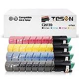 TESEN Compatible Toner Cartridge Replacement for Ricoh C2030 C2550 Toner Ricoh MP C2030 C2050 C2550 C2530 Lanier LD520c LD525c Savin C9020 9025 Printer, 841280 841281 841282 841283, 4 Pack KCMY