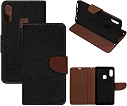 RidivishN® Samsung Galaxy M30 Flip Cover Case [Shock Proof,Magnetic Closure,360 Degree Dual Protection] Flip Covers Cases for Samsung Galaxy M30 (Brown)