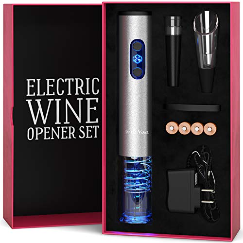Electric Wine Opener Set with Charger and Batteries- Mother's Day Gift Set - Birthday Wedding...