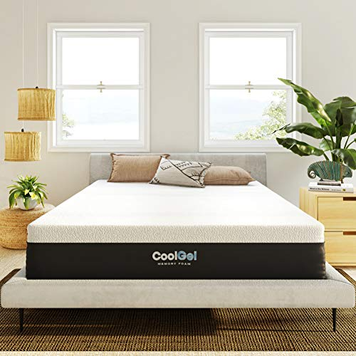 Classic Brands Cool Gel and Ventilated Memory Foam 12-Inch Mattress, CertiPUR-US Certified , King, White
