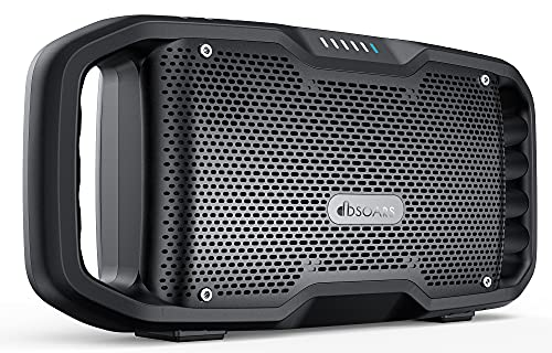 DBSOARS Portable Bluetooth Speaker, Patented Exclusive Bass, 50W(70W Peak) Waterproof Outdoor Wireless Speaker, Sync Up to 100+ Speakers, 30H Playtime with 10000mAh Power Bank and FM Radio, Party Pool