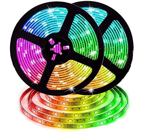 Kloius RGB 600LEDs Luz de Tira con Control Remoto IR Iluminación de Exterior
