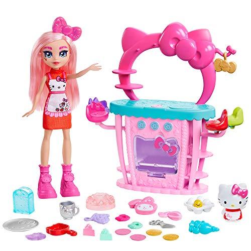 Hello Kitty Muñeca con Cocina, Vestido y Accesorios de Juguete para cocinar (Mattel GWX05)