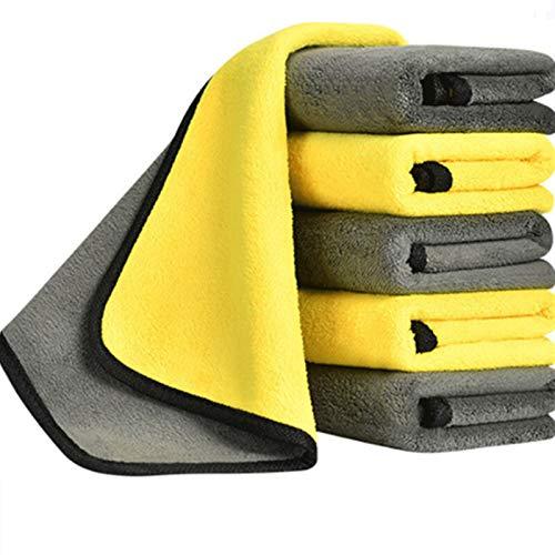 HONGGE 3/5/10pcs 600gsm Lavado de Autos Toalla de Microfibra Limpieza de Autos Secado paño Pintura Cuidado Tela detallando Lavado de Autos Toalla Herramientas de Limpieza (Color : 30X30CM 10PCS)