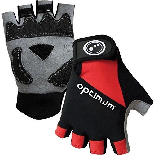 OPTIMUM Cycling-Guantes de Ciclismo para Hombre, tamaño L, Color Negro, Unisex-Adult, Large