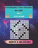 crucigramas para personas mayores vol 2: libro de ejercicios para la memoria