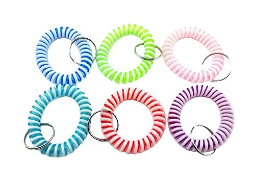 yueton Colorful Candy Bicolor Flexible Spiral Coil Wristband (Bicolor)
