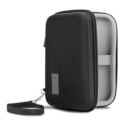USA Gear Portable External Hard Drive Case - Compatible with Silicon Power Military Grade A30, A60, A80 - Soft Internal Lining Accessory Pouch Holds Cables, Batteries, Flash Drives More