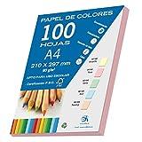 Dohe 30191 - Pack de 100 papeles A4, 80 g, color rosa pastel