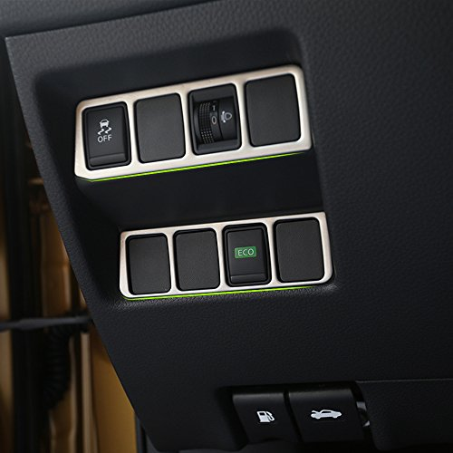 NA 2 Piezas de Faros antiniebla para Coche Eco Ajuste Interruptor de Control de Acero Inoxidable para Nissan X-Trail Xtrail T32 2013+ Qashqai J11 2014-2018 LHD