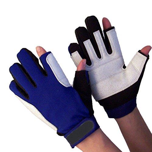 Navyline Damen Herren Segelhandschuhe Neopren 2 Finger frei warm, Größe:S