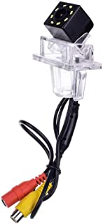 aSATAH 8 LED Car Rear View Camera for Mercedes Benz C180 C200 C280 C300 C350 C63 AMG/C Class W204 / E Class W212 W207 & HD CCD Night Vision Waterproof and Shockproof Reversing Backup Camera (8 LED)