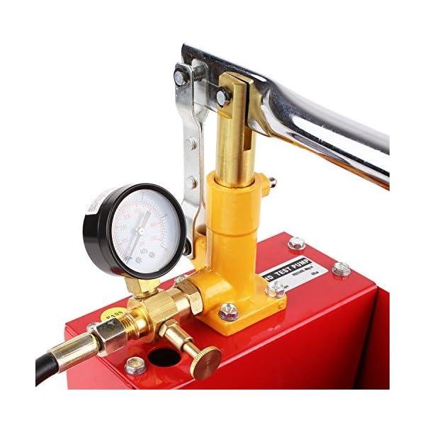 FIXKIT Bomba de Prueba de Preción 5L, 2.5 MPa Bomba de Prueba para Energía Solar y Fuga de Calefacción, con Manguera de…