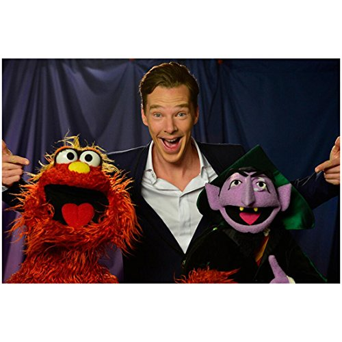 Benedict Cumberbatch Smiling Big with Muppets 8 x 10 Photo