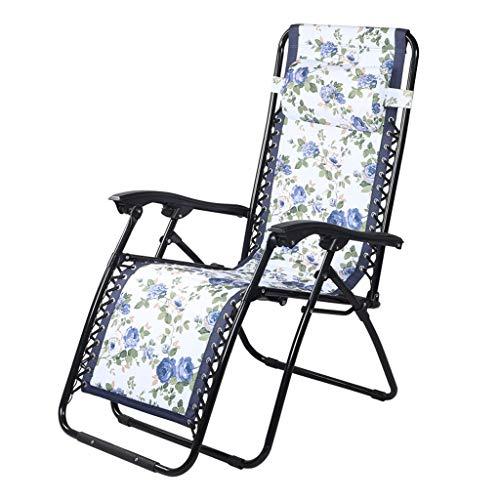 MRZZ ligstoel vouwen, afdrukken Thuis Outdoor Lunch Break Stoel Strandstoel Lounge stoel Zon Recliner Balkon Tuin Verstelbare Hoek.