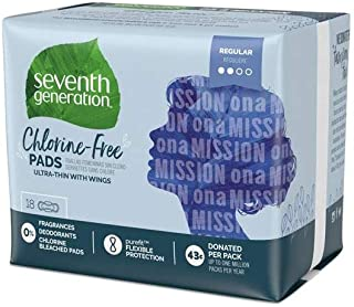 Seventh Generation Ultrathin Pads, Regular - 18 ct - 2 pk