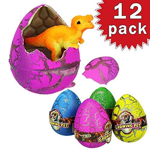 Lote de 12 Huevos de Dinosaurio dragón eclosión Dino en Juegos Infantiles de Agua mágica Juguete para Semana Santa