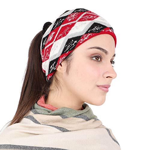 BHARATASYA Unisex Warm Woolen Headband Ear Warmer Earmuffs Ear Cap Ear Cover Winter Accessories for Men and Women