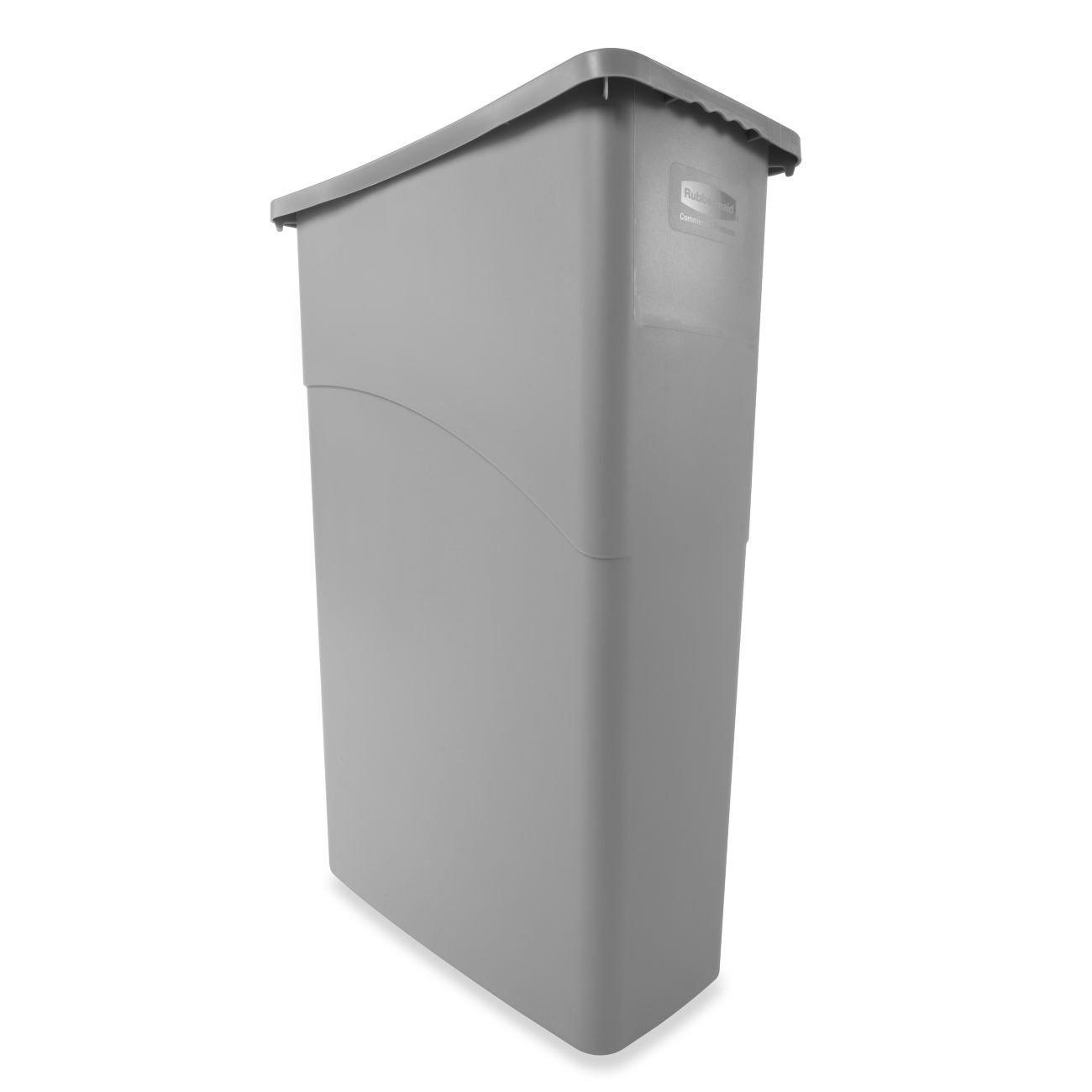 Rubbermaid Slim Denver Mall Genuine Jim Waste Container Grey L 87 -