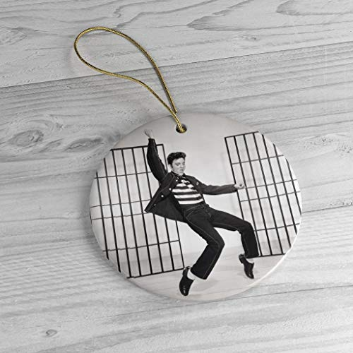 Lplpol Elvis Presley Dancing Ornament, Vintage Music Xmas Tree Christmas Decor Unique Novelty Tree Decoration 3 inches