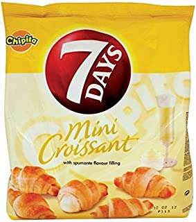 7 Days Mini Croissants with Spumante Cream Filling From Greece - 72g (2.5 Ounches)