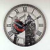 Moda-Viejo de Londres Big Ben Grande Reloj de Pared Decorativo del diseño Moderno Más silencioso 30x30cm la decoración del hogar del Reloj de Pared de los números Romanos