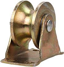 Zwaar uitgevoerde stalen zwenkwielen, U-groef stijf spoorwiel, dubbel gelagerde katrolschijf, voor industriële machines, s...