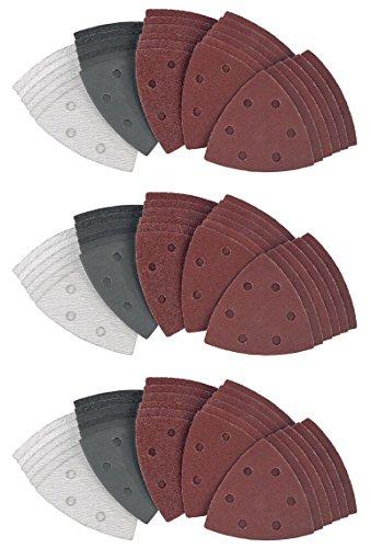3 x30-teilig (90stk) Dreieckschleifpapierset PDSZ 30 A1 Dreieckschleifpapier set Dreieck schleifpapier