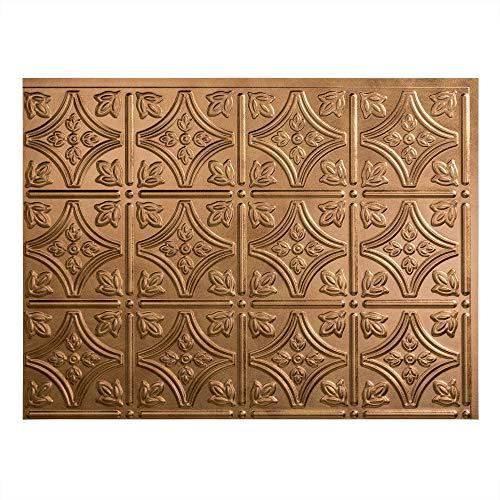 FASDE Traditional Style/Pattern 1 Decorative Vinyl Backsplash Panel in Antique Bronze (One 18