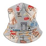 Nother Omeranian Paris Dog Raza – Bufanda para la cabeza, calentador de cuello, pasamontañas para deportes al aire libre