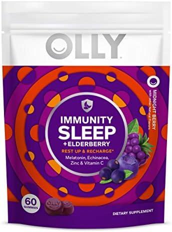 Olly Immunity Sleep Gummy Melatonin Elderberry Echinacea Zinc and Vitamin C Chewable Supplement product image