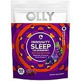 Olly Immunity Sleep Gummy, Melatonin, Elderberry, Echinacea, Zinc and Vitamin C, Chewable Supplement, Sleep Aid, 60 Count