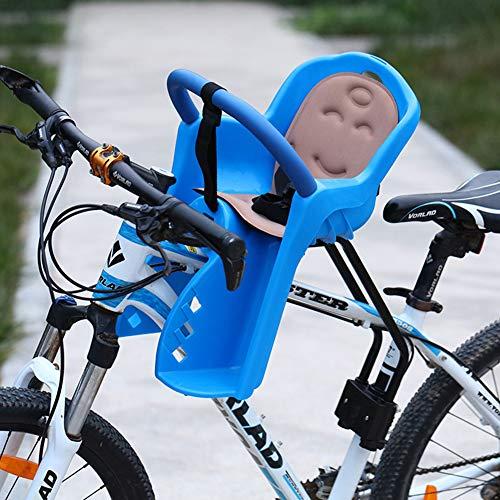 ZHOUHUAW Rennrad-Kindersitz Vollständig Umrandeter, Verdickter Sitzfront-Montierter Kindersitz Für Kinderradsättel Im Alter Von 0 Bis 4 Jahren,Blau