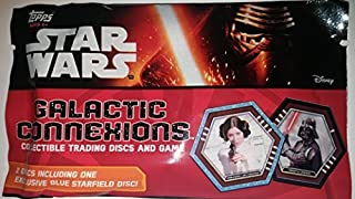 3 in Pack Star Wars Galactic Connexions Princess Leia Organa, Darth Vadar,Blue Starfield