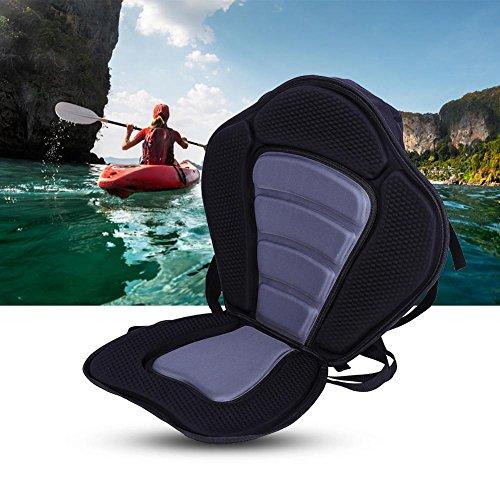Dilwe - Cojín acolchado para asiento de kayak con respaldo y bolsa trasera desmontable para canoa y barco de pesca