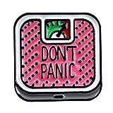 WOWOWO Dibujos Animados Lindo Don't Panic báscula de aleación Broche Mini...