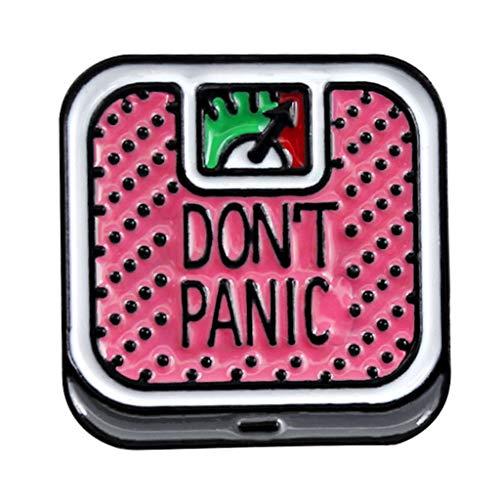 VIccoo Cartoon Brosche,1 Stück Cartoon Cute Don't Panic Waage Waage Legierung Brosche Mini Pins Abzeichen Emaille Anstecknadel Cute Kleider Hut Schal Dekor Dekor Zubehör - B