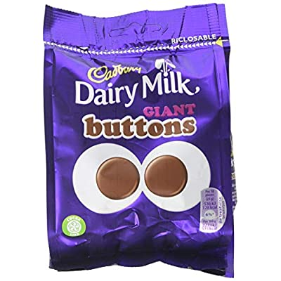 cadbury dairy milk giant chocolate buttons bag, 95 g, pack of 10 Cadbury Dairy Milk Giant Chocolate Buttons Bag, 95 g, Pack of 10 511TsGYdyJL