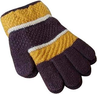 Winter Baby/Children Cute Mittens, Wool Knit Five Fingers Warm Gloves, 04