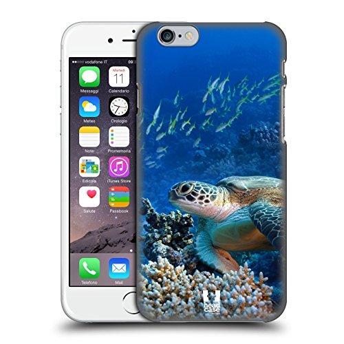Head Case Designs Tartaruga di Mare Seduta sulla Barriera Corallina Animali Selvatici Cover Dura per Parte Posteriore Compatibile con Apple iPhone 6 / iPhone 6s