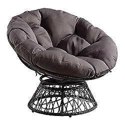 powerful OSP Furniture Papa Sun Armchair 360 Degree, Gray Cushion