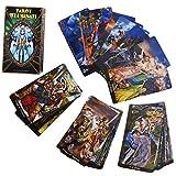 LPWCAWL Cartas Tarot, Tarot Illuminati, Juego De Cartas Adivinación Destiny, Tarjeta De Juego De Mesa para Adultos y Niños, 78 Cartas, Versión Inglesa