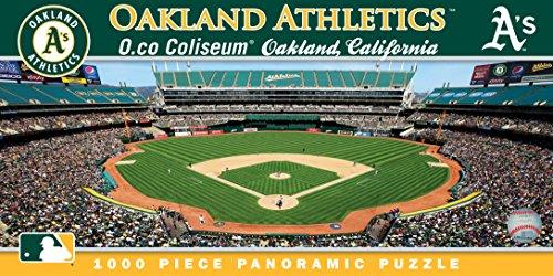 MasterPieces MLB Oakland Athletics Stadium Panoramic Jigsaw Puzzle, O.co Coliseum, 1000 Pieces