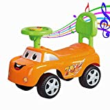 GoodLuck Baybee - Kids Ride On Push Car for Toddlers Baby car Toy Children Rider & Infant Baby car Toys | Kids Suitable for Boys & Girls(1-3 Years)(Red) (Orange)